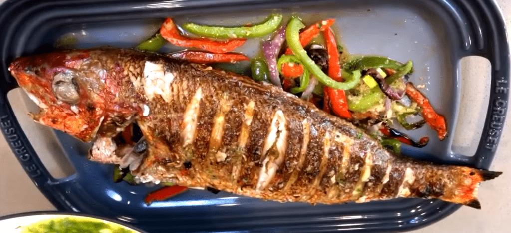 Rezept für Fisch Bräter Gericht im Backofen oder braten